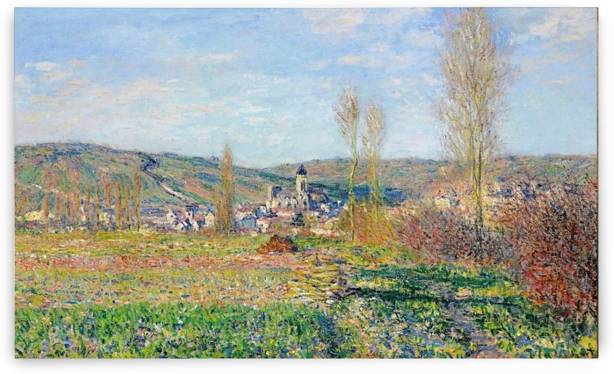 The Spring at Vetheuil by Claude Monet