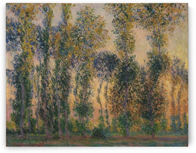 Poplars at Giverny, Sunrise by Claude Monet