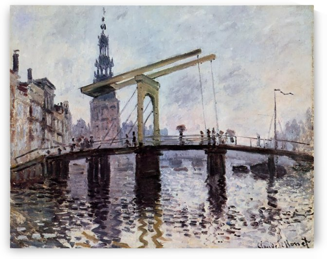 The Bridge in Amsterdam by Claude Monet