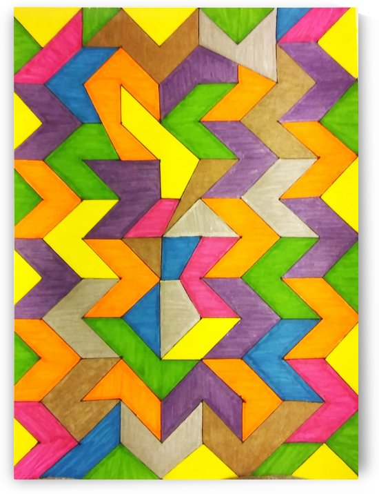 Patterned Lines of Color by SarahJo Hawes