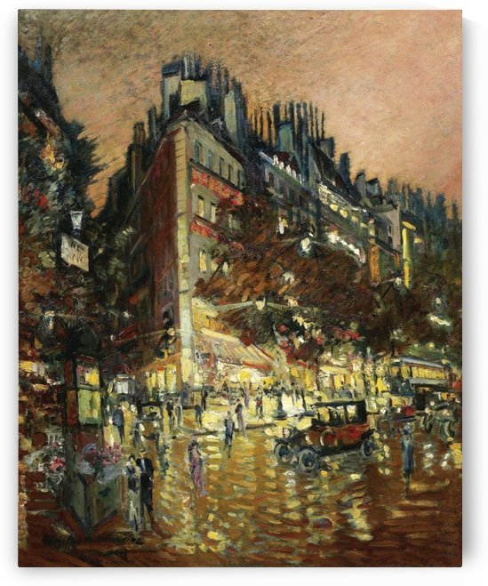 Paris by Night 01 by Constantin Korovin