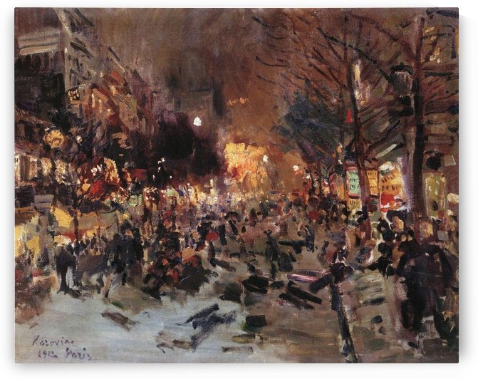 Parisian Boulevard 01 by Constantin Korovin