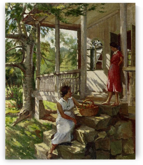 On the Veranda by Constantin Korovin