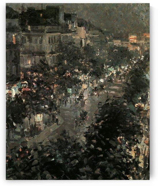 Boulevard by Night, Paris by Constantin Korovin