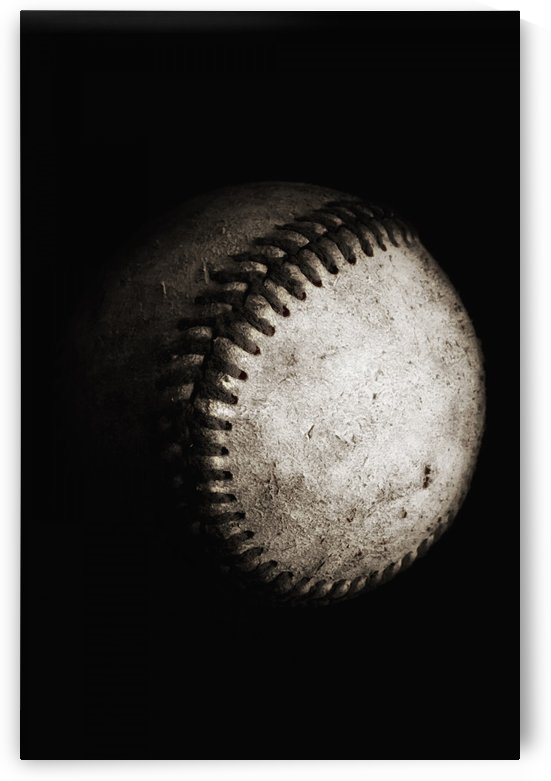 Battered Baseball in Black and White by Leah McPhail