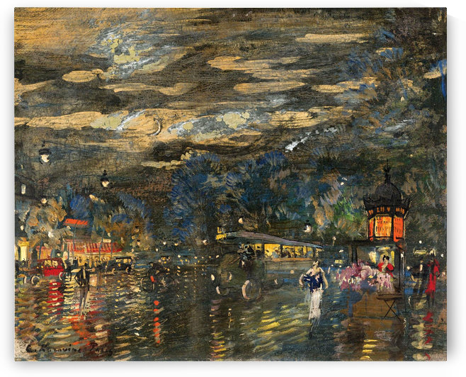 Gypsies by the River, Yaroslavl Gubernia Province by Constantin Korovin