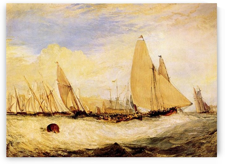 East Cowes Castle, Regatta by Joseph Mallord Turner by Joseph Mallord Turner