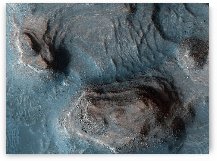 Mesas in the Nilosyrtis Mensae region of Mars. by StocktrekImages