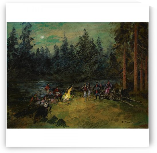 The Camp Fire by Constantin Korovin