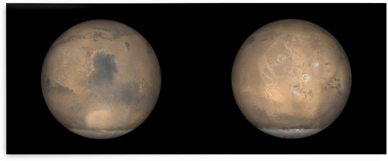 Global Views of Mars in late Northern Summer. by StocktrekImages