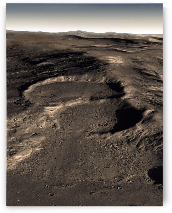 Three craters in the eastern Hellas region of Mars. by StocktrekImages