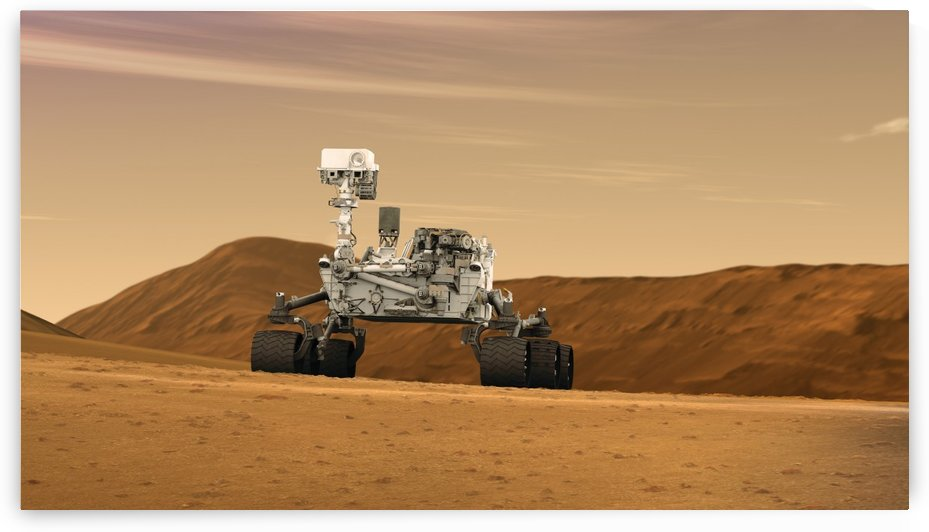Artist concept of NASAs Mars Science Laboratory Curiosity rover. by StocktrekImages