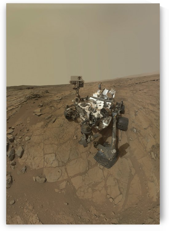 Self-portrait of Curiosity rover on the surface of Mars. by StocktrekImages