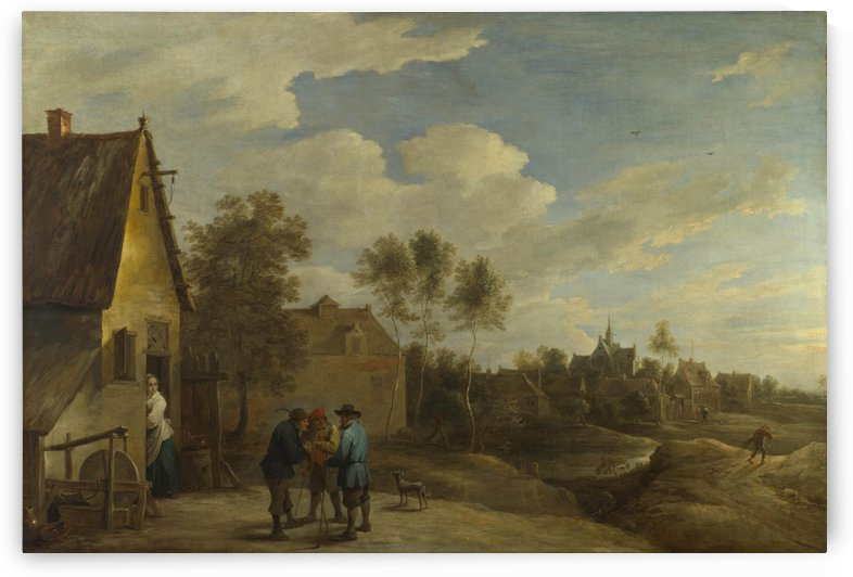 A View of a Village by David Teniers the Younger