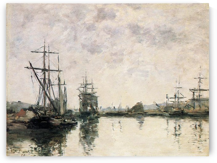 Basin of Deauville by Eugene Boudin