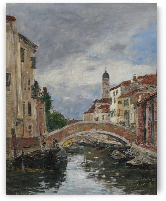 Small Channel in Venice by Eugene Boudin