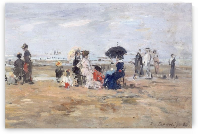 Trouville, Scene on the Beach by Eugene Boudin