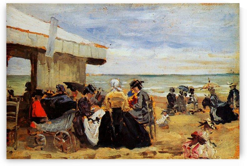 Scene on the Beach by Eugene Boudin