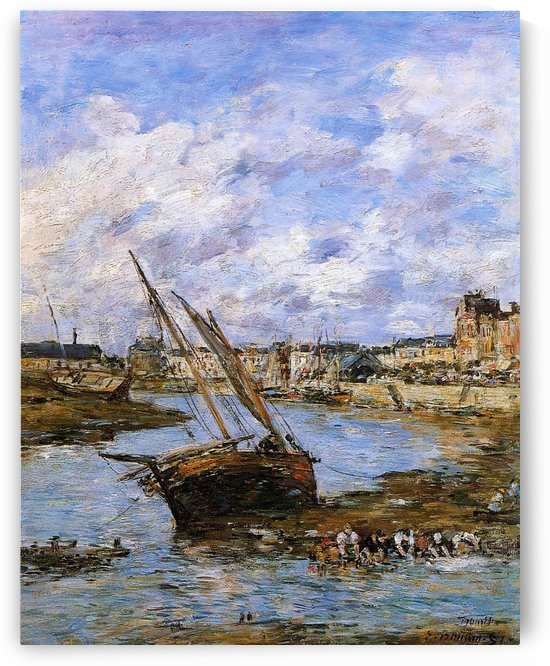 Trouville, View of the Port by Eugene Boudin