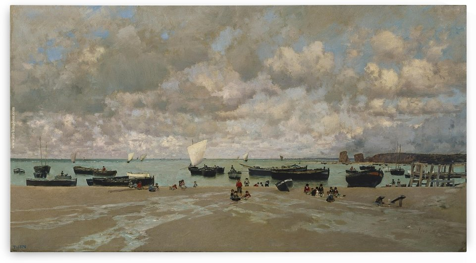 The Outskirts of Brest, the Estuary of the Elorn River by Eugene Boudin