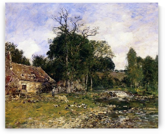 The Pool, Saint-Cenery by Eugene Boudin