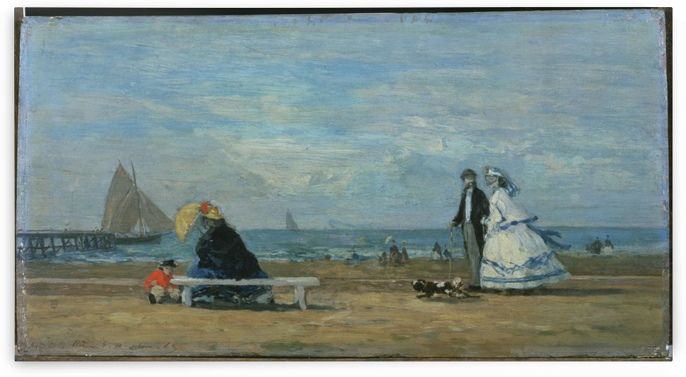 Beach at Trouville by Eugene Boudin