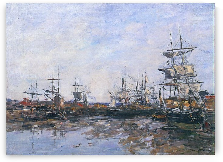 Trouvillle, the Port by Eugene Boudin