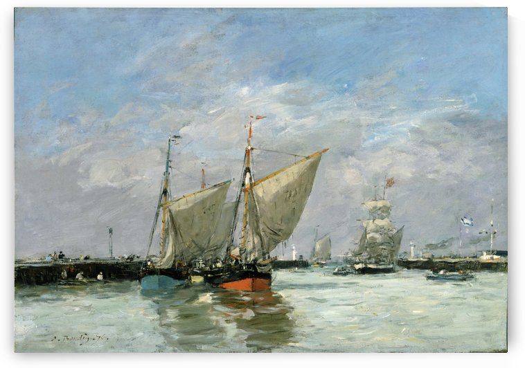 Trouville, the Jetties by Eugene Boudin