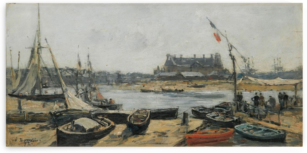 Touques, the Port of Vieux by Eugene Boudin