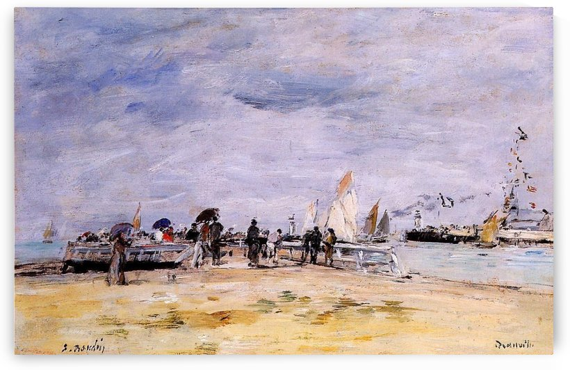 Trouville, the Jetties (2) by Eugene Boudin