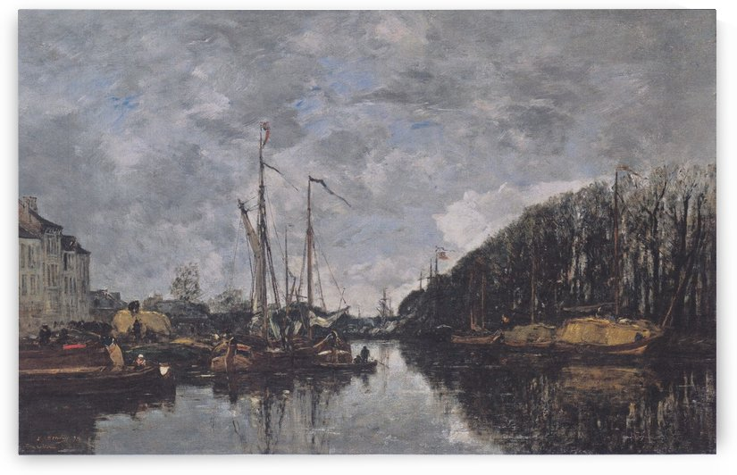 Rotterdam, the Bridge of Bourse by Eugene Boudin