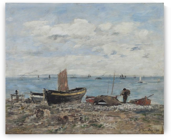 Seashore at Saint-Adresse by Eugene Boudin