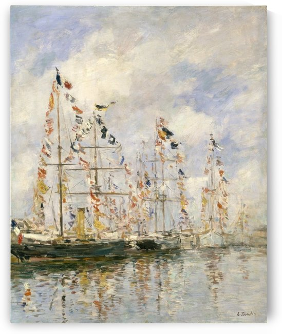 The Port of Trouvill, Marine Basin by Eugene Boudin