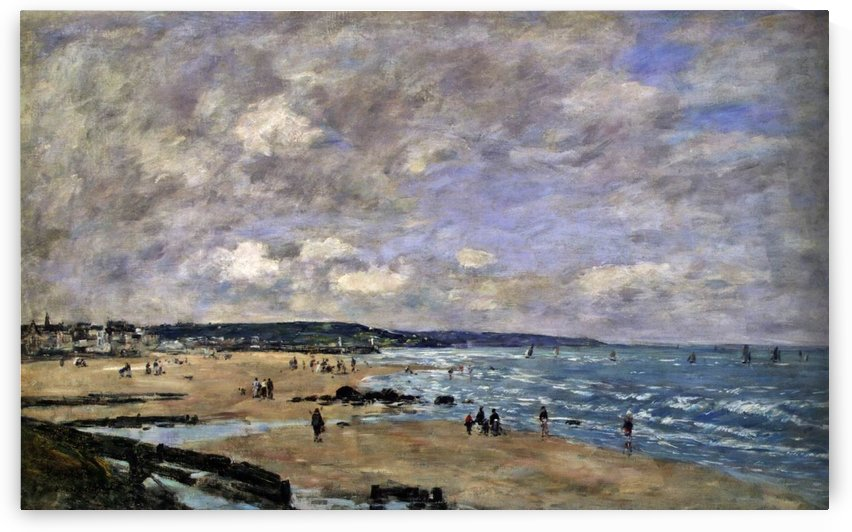 Beach Scene, Trouville (2) by Eugene Boudin