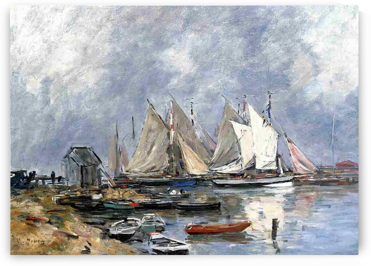 Shipping Lock at Trouville by Eugene Boudin