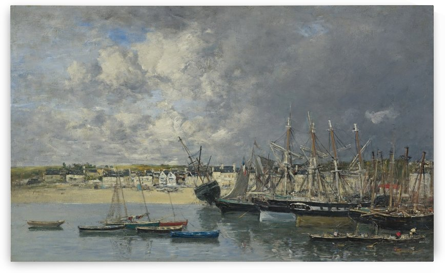 Boats at the Port of Ancre by Eugene Boudin
