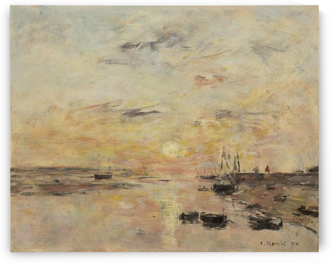Etaples by Eugene Boudin