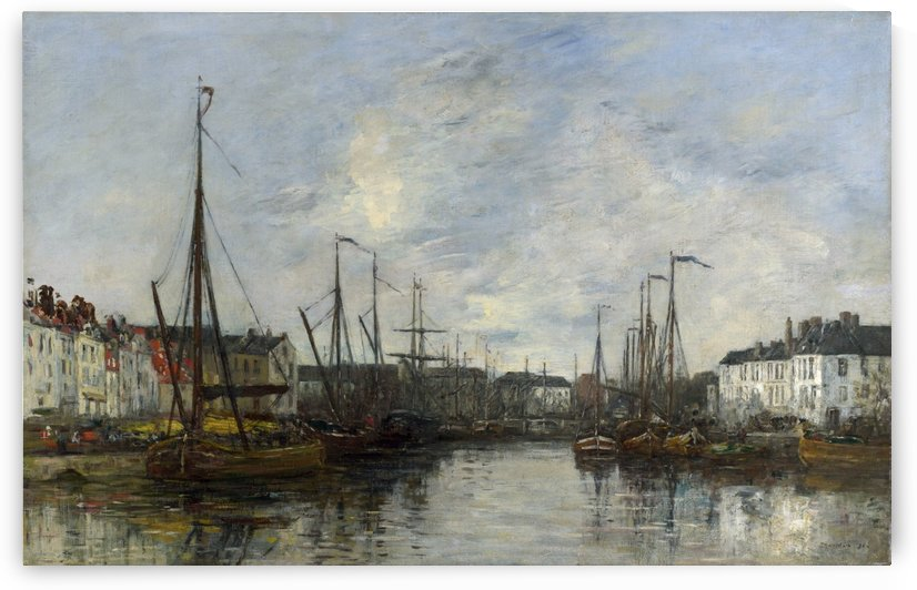 Brussels Harbour by Eugene Boudin