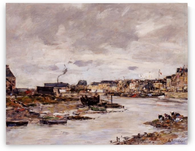 The Entrance to Trouville Harbour by Eugene Boudin