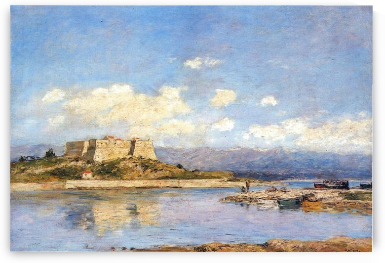 Antibes, The Fort Carre by Eugene Boudin