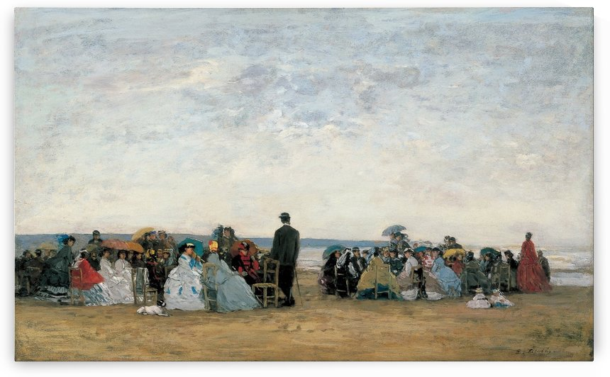 Beach Scene, Trouville by Eugene Boudin