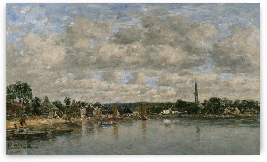 L'Hôpital-Camfrout, Brittany by Eugene Boudin