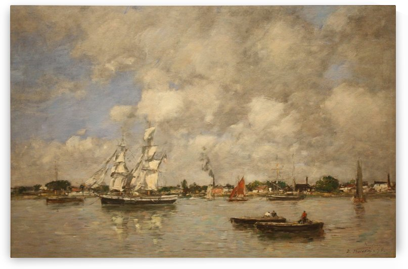 Bordeaux, Three-Master on the Garonne by Eugene Boudin