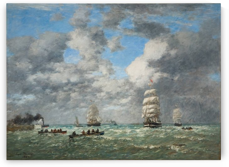 Havre, The Port by Eugene Boudin