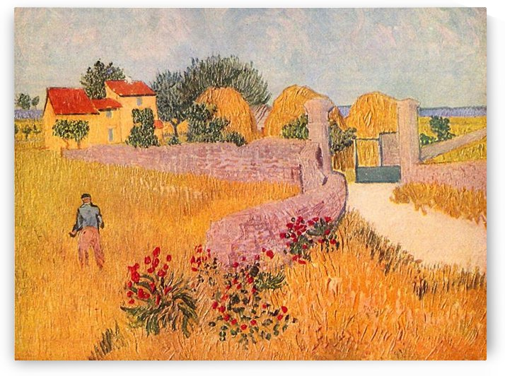 Farmhouse in Provence by Van Gogh by Van Gogh