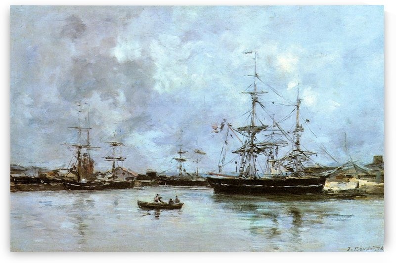 Deauville Harbour by Eugene Boudin
