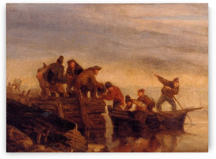 Fishermen in the Boat by Eugene Boudin