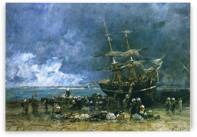 Fecamp, the Basin by Eugene Boudin