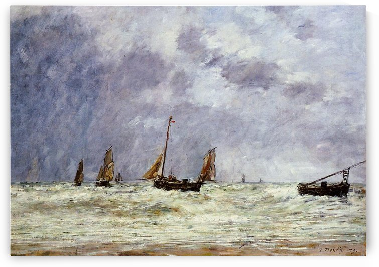 The Dunes at Berck by Eugene Boudin