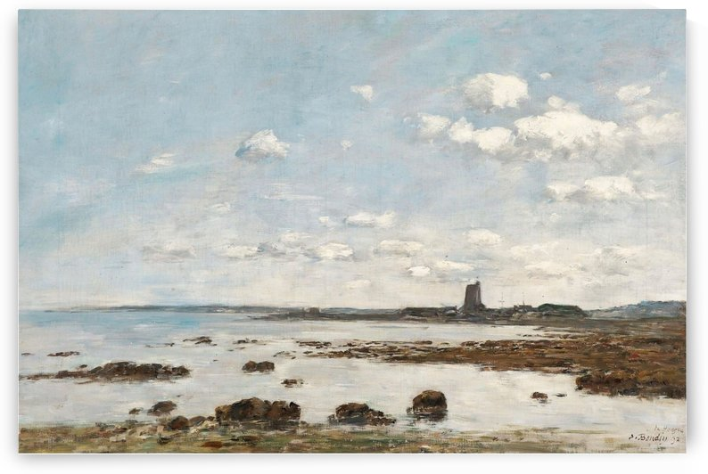 Saint-Vaast-la-Hougue, the Rocks and the Fort by Eugene Boudin